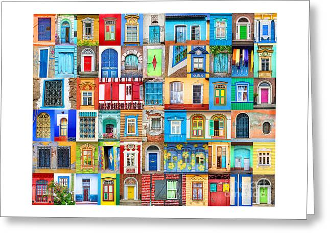 Doors And Windows Of The World Greeting Card