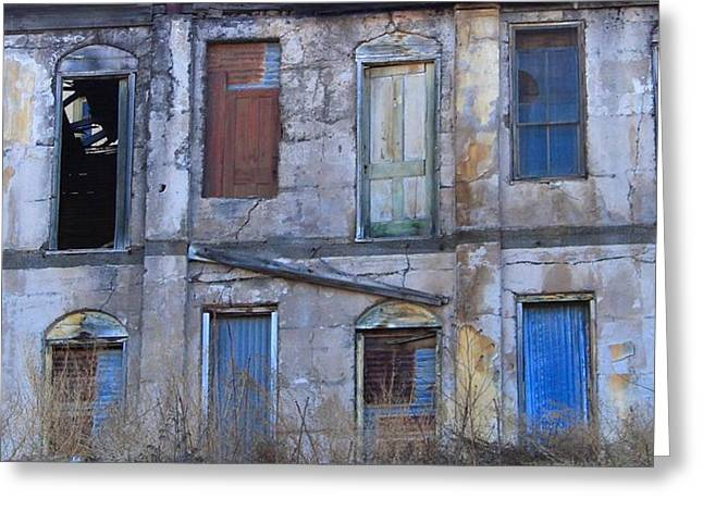 Old Building In Jerome, Arizona Greeting Card