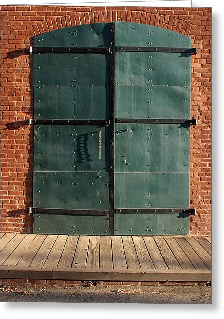 Greeting Card featuring the photograph Doors by Larry Darnell
