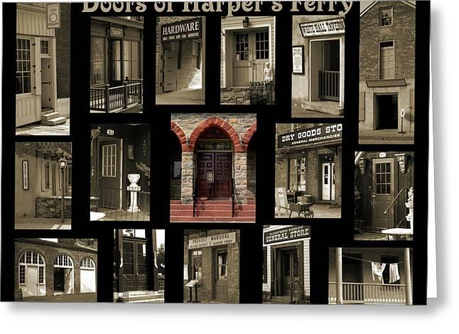 Doors Of Harper's Ferry Greeting Card