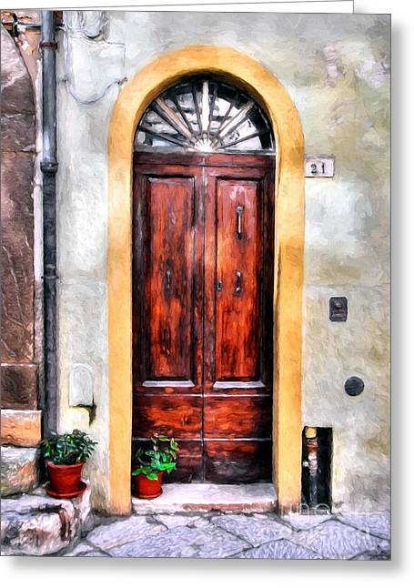 Doors Of Italy Greeting Card