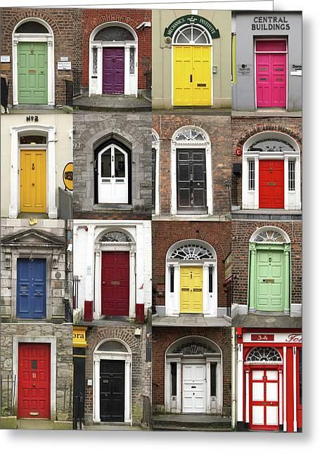 Doors Of Limerick Greeting Card by Marie Leslie
