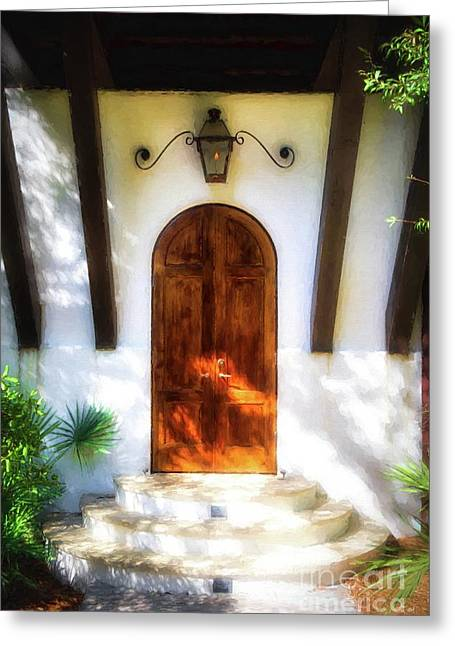 Doors Of The Florida Panhandle # 2 Greeting Card by Mel Steinhauer