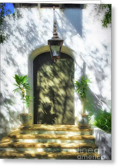 Doors Of The Florida Panhandle Greeting Card by Mel Steinhauer