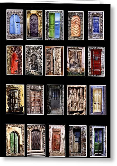 Doors Of The World Greeting Card by Rianna Stackhouse