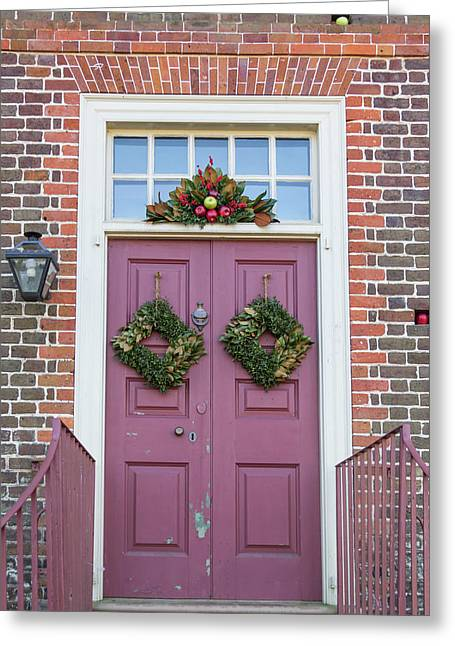 Doors Of Williamsburg 69 Greeting Card