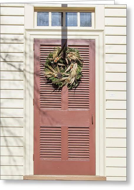 Doors Of Williamsburg 70 Greeting Card