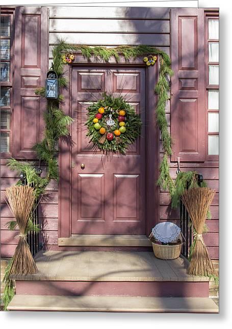 Doors Of Williamsburg 72 Greeting Card by Teresa Mucha