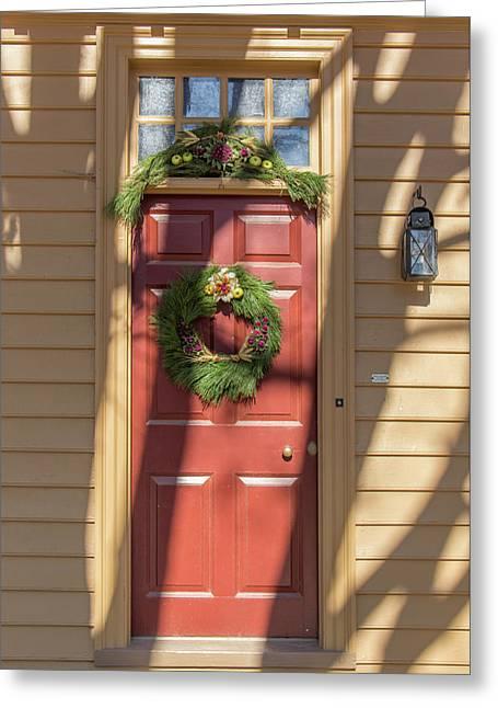Doors Of Williamsburg 76 Greeting Card