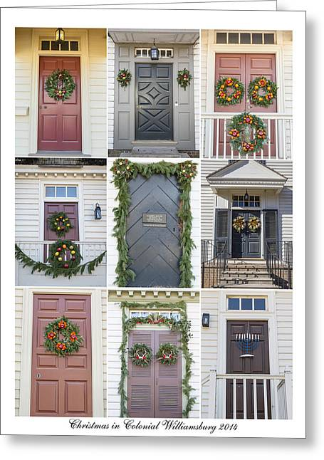 Doors Of Williamsburg Collage 4 Greeting Card by Teresa Mucha