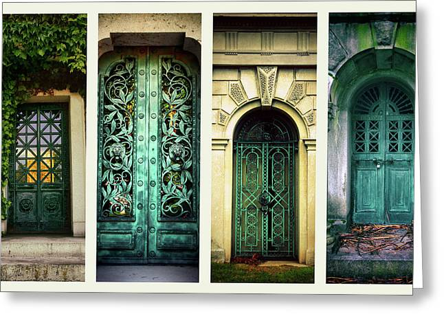 Doors Of Woodlawn Greeting Card by Jessica Jenney
