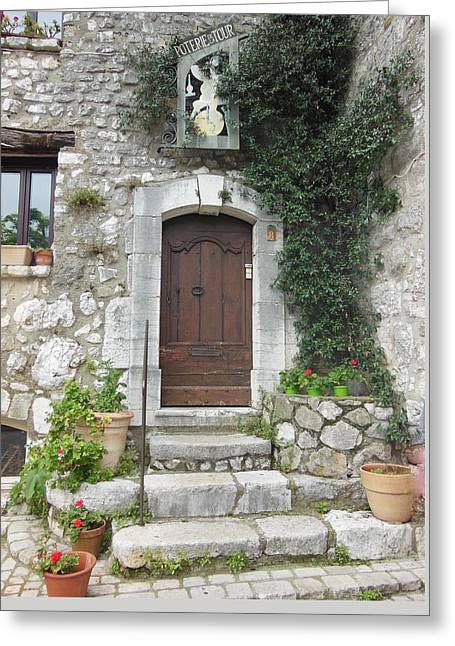 Doorway In St Paul De Vence France Greeting Card