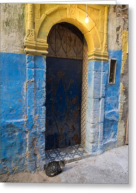 Doorway In The Mellah The Former Jewish Greeting Card by Panoramic Images