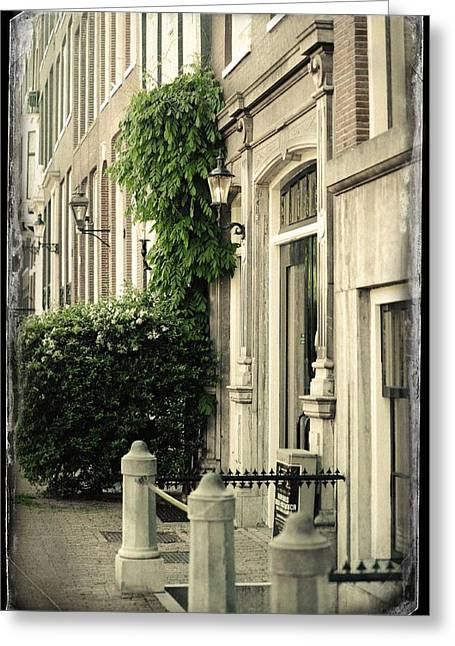 Doorway Into House. Old Cards From Amsterdam  Greeting Card