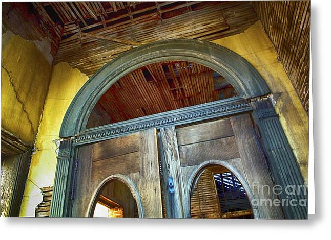 Doorway Jerome Arizona Greeting Card by Bob Christopher