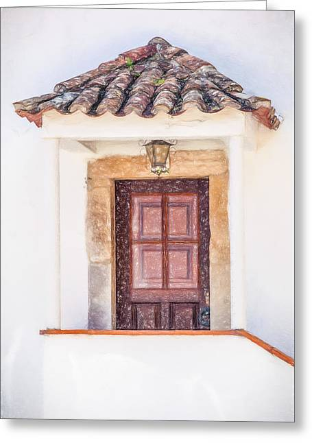 Doorway Of Portugal Greeting Card by David Letts