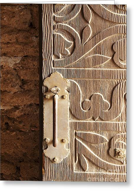 Doorway Of The Past Greeting Card by Sandra Bronstein
