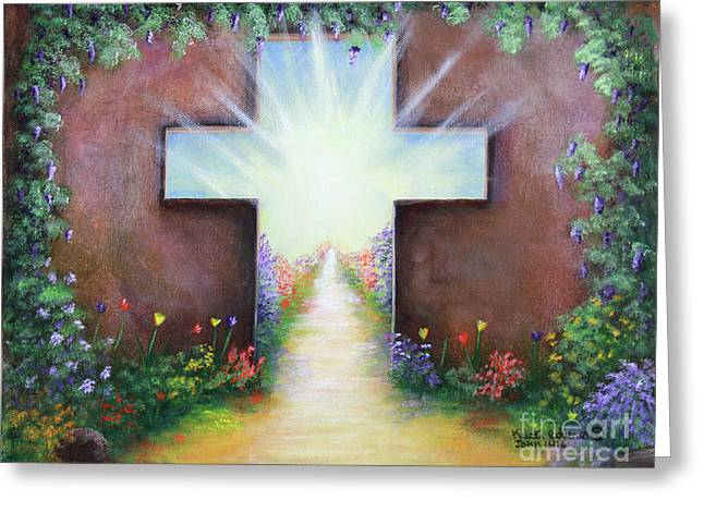 Greeting Card featuring the painting Doorway To Heaven by Kristi Roberts