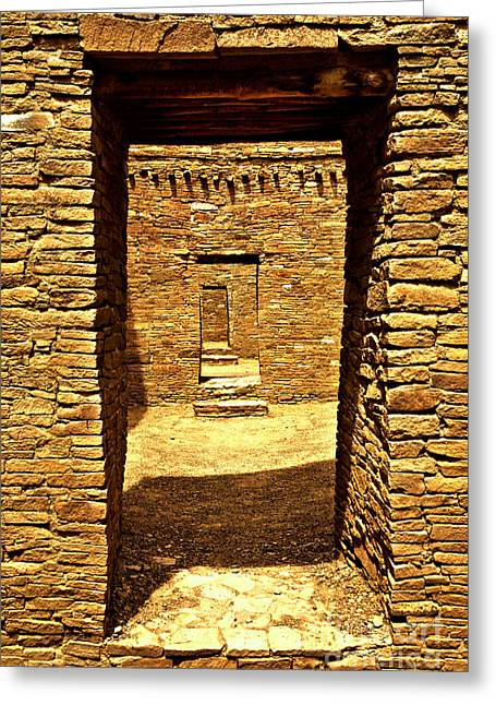 Doorway To The Past Greeting Card by Adam Jewell