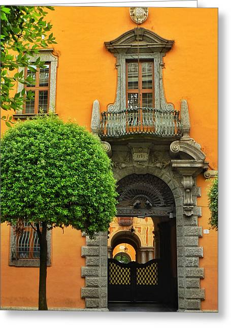 Doorways Of Learning Greeting Card by Connie Handscomb
