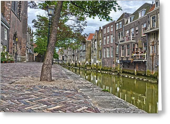 Dordrecht Behind The Church Greeting Card