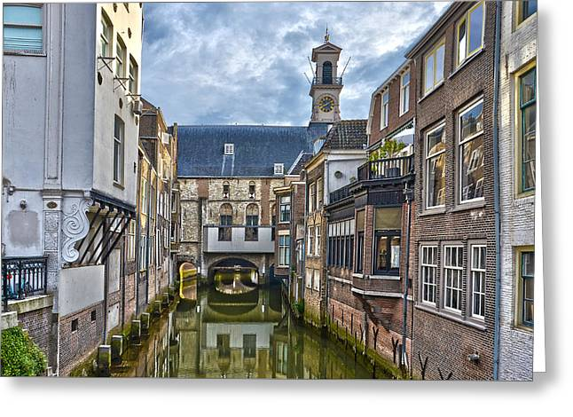 Greeting Card featuring the photograph Dordrecht Town Hall by Frans Blok