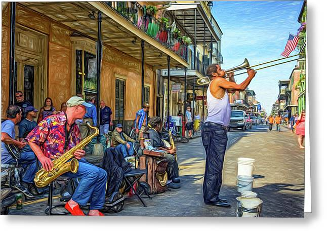 Doreen's Jazz New Orleans - Paint Greeting Card