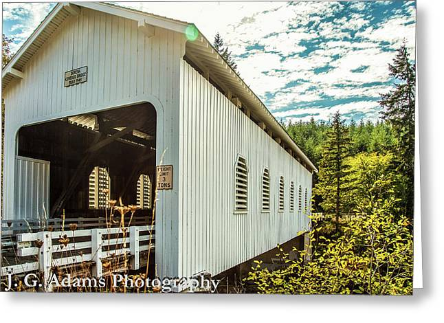 Dorena Covered Bridge Greeting Card