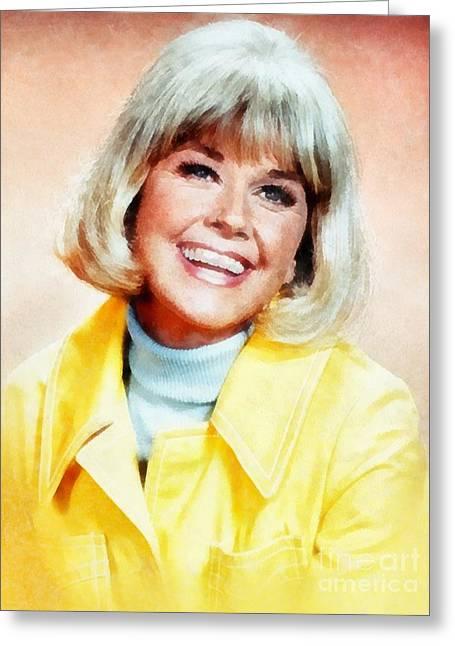 Doris Day By John Springfield Greeting Card