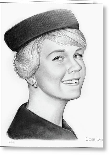 Doris Day Greeting Card by Greg Joens