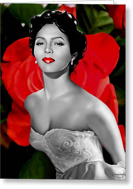 Dorothy Dandridge Greeting Card by Davonte Bailey