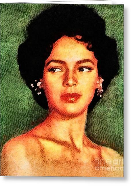 Dorothy Dandridge, Vintage Hollywood Legend Greeting Card by John Springfield