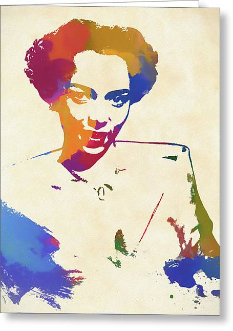 Dorothy Dandridge Watercolor Greeting Card