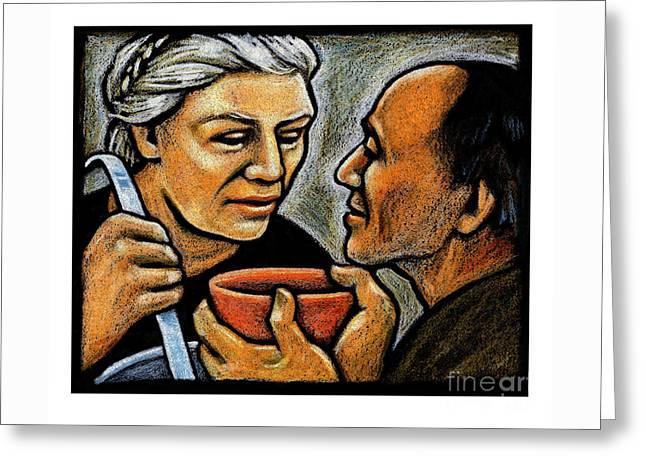 Dorothy Day Feeding The Hungry - Jlddf Greeting Card