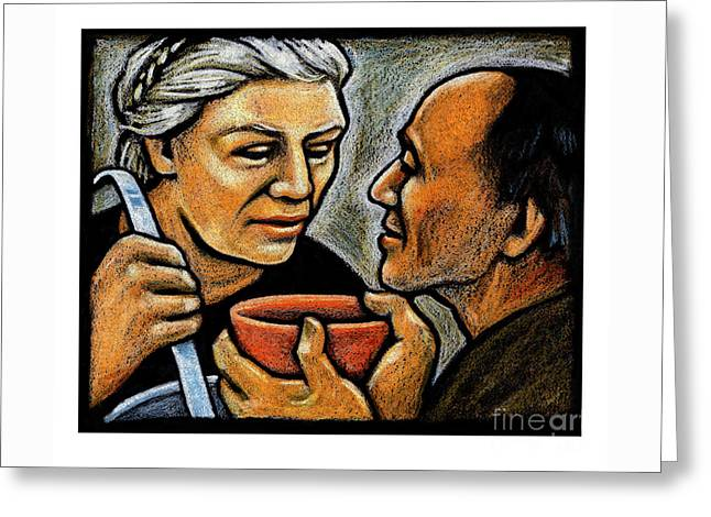 Dorothy Day Feeding The Hungry - Jlddf Greeting Card