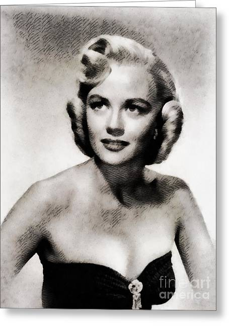 Dorothy Malone, Vintage Actress By John Springfield Greeting Card
