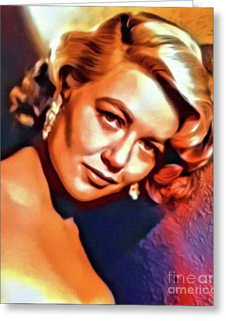 Dorothy Malone, Vintage Actress. Digital Art By Mb Greeting Card