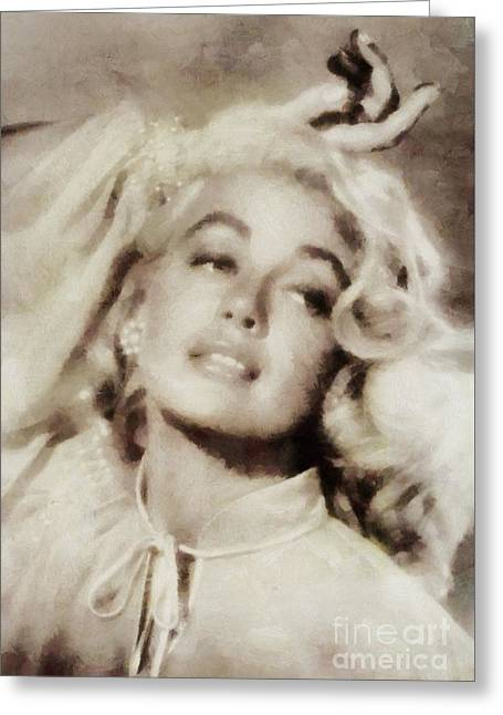 Dorothy Malone, Vintage Hollywood Actress Greeting Card