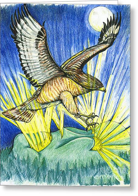 Dorothy's Totem Greeting Card by Laura Brightwood