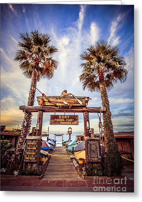 Dory Fishing Fleet Market Picture Newport Beach Greeting Card