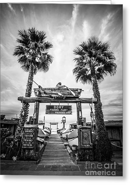 Dory Fleet Market Newport Beach Photo Greeting Card