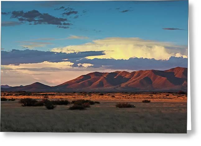 Dos Cabezos Sunset Serenity Greeting Card