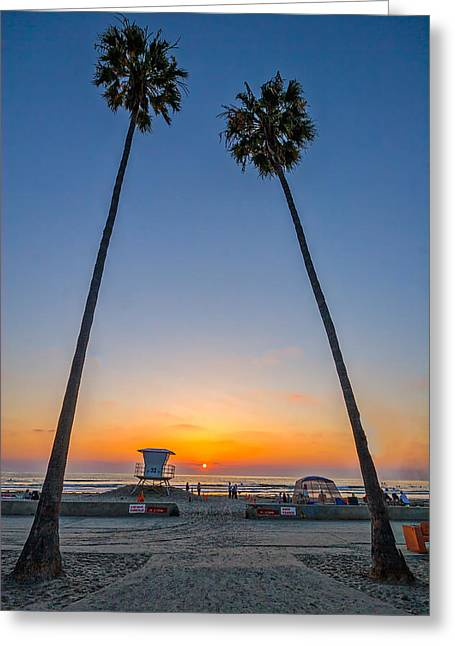 Dos Palms Greeting Card by Peter Tellone