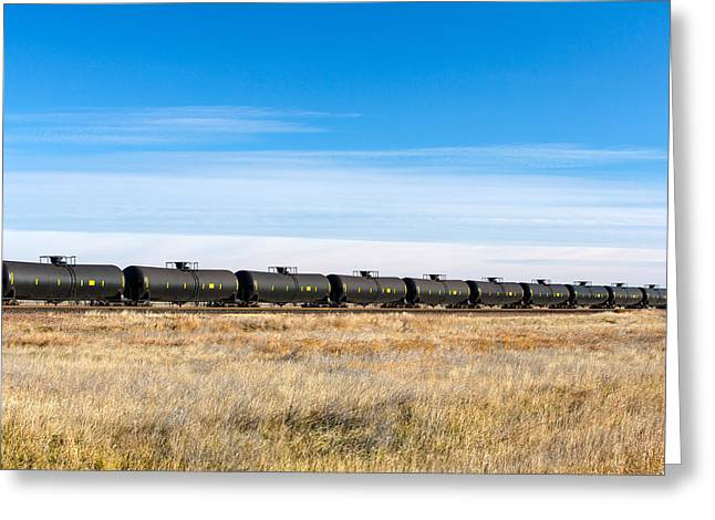 Dot-111 Tank Cars Greeting Card by Todd Klassy