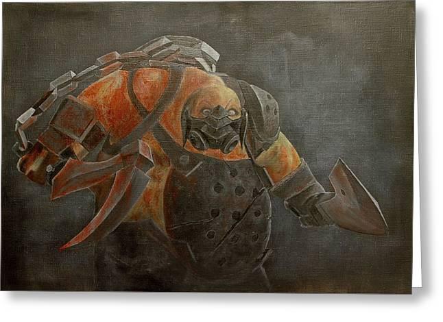 Dota 2 - Pudge. Game. Hero. Oil Painting Greeting Card by Yuliia Ustymenko