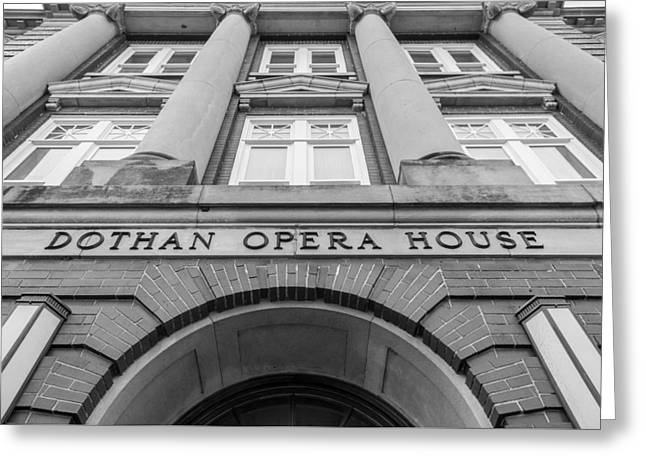 Dothan Opera House In Black And White Greeting Card by Jeremy Raines
