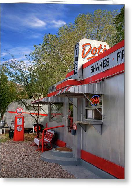 Dot's Diner In Bisbee Greeting Card