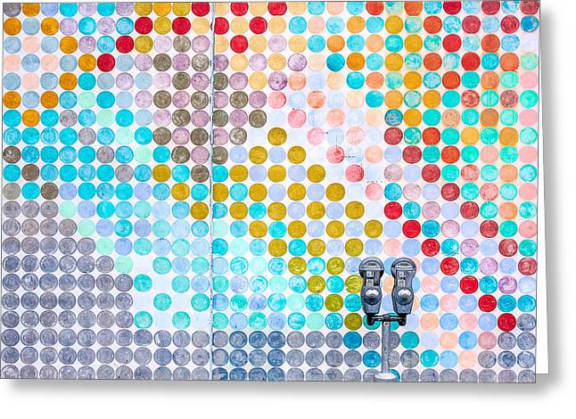 Dots, Many Colored Dots Greeting Card