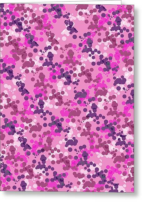 Dots Greeting Cards - Dotted Camo Greeting Card by Louisa Knight