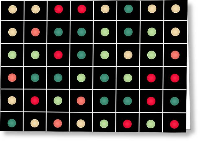 Dotted Grid Greeting Card by Gaspar Avila